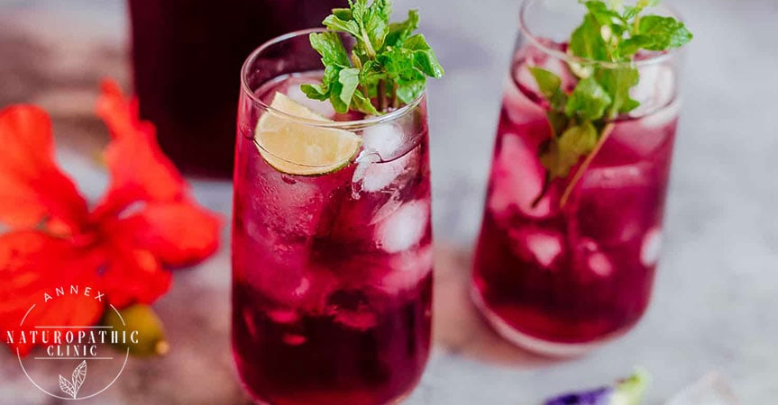 Have a taste of a good Hibiscus Cooler | Annex Naturopathic Clinic | Toronto Naturopathic Doctors